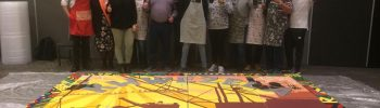Khwezela Anglo America team with their completed Mural Painting at Sun City