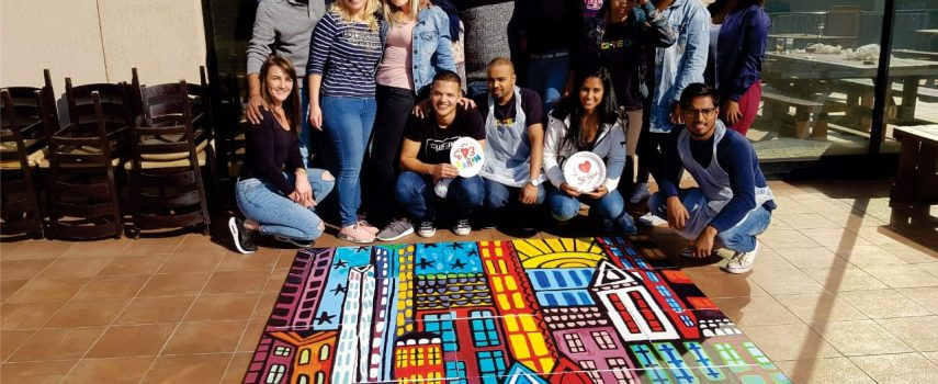 FNB Team Building Abstract Mural Painting